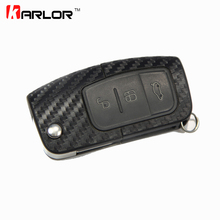 Carbon Fiber Key Sticker And Decal Cover Case Car Styling For Ford Fiesta 2 3 Focus 2 3 MK2 MK3 2009-2012 Ecosport Accessories