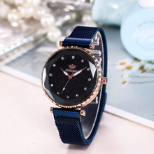 Luxury Ladies Watch Starry sky Magnet Wristwatch Rose Gold Steel Quartz Watch Women Fashion Dress Watches Clock Relogio Feminino curren women watches luxury gold black full steel dress jewelry quartz watch ladies fashion elegant clock relogio feminino 9015