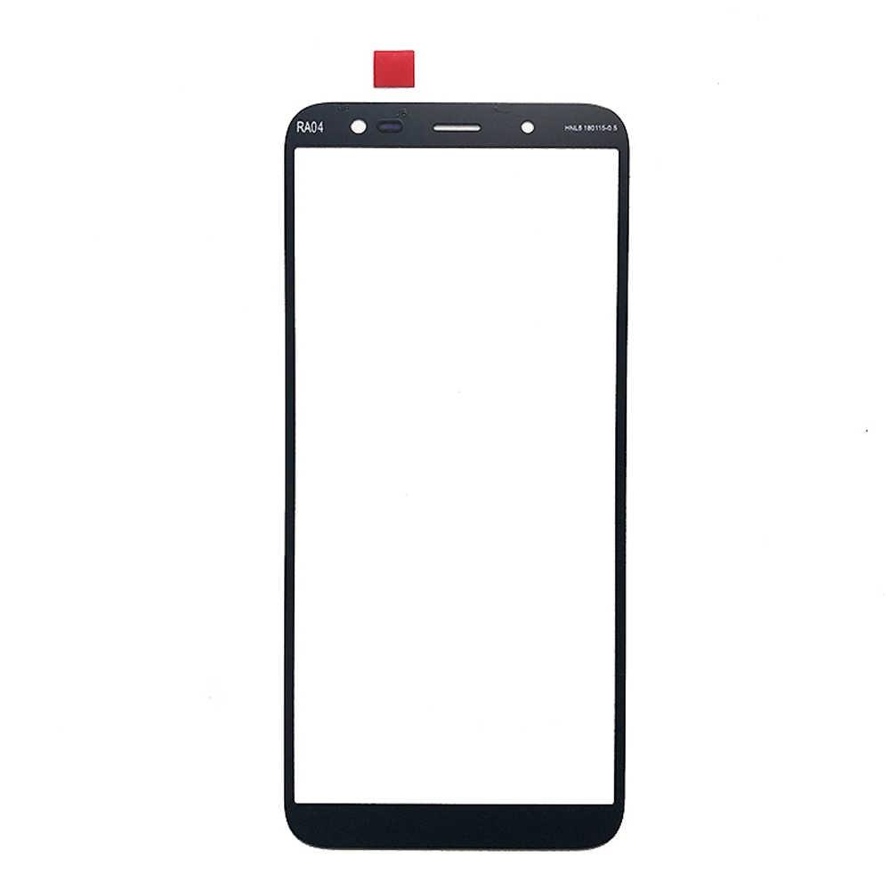 Panel przedni do Samsung Galaxy A6 A8 Plus A6Plus A8Plus czujnik ekranu dotykowego wyświetlacz LCD szkło Digitizer pokrywa część zamienna