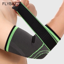 FLYBAZZZ Elastic Gym Sport Elbow Protective Pad Bandage Tennis Elbow Support Protector Compression Adjustable Elbow Pad Brace недорого