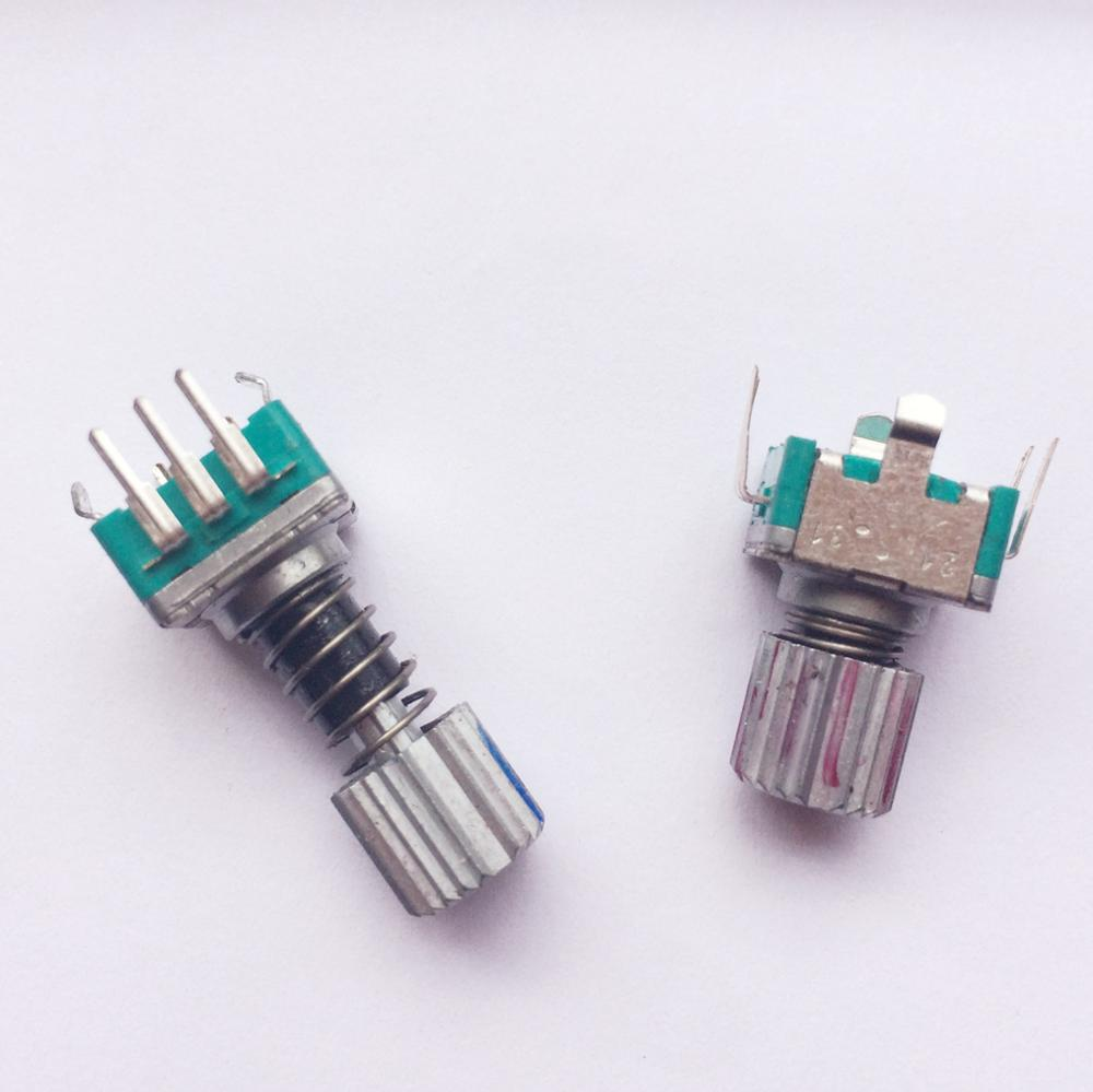EC11E152U402 With Spring Rotary Encoder With Self-locking Push Button Switch 30-bit 15-pulse Potentiometer