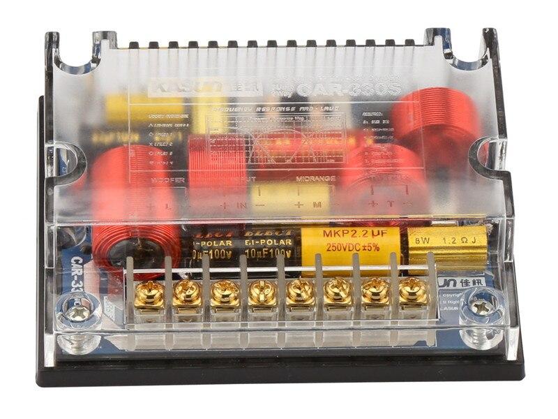 Voiture Séparation 3 façon 3 Unité 280 W HiFi Véhicule Audio diviseur de fréquence 4 ohm 650 HZ 4800Hz Tweeter mi -gamme Woofer kasun CAR-330S