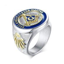 цена на Stainless Steel Freemasons Cast Rings for Men Mason Ring Male Fashion Jewelry