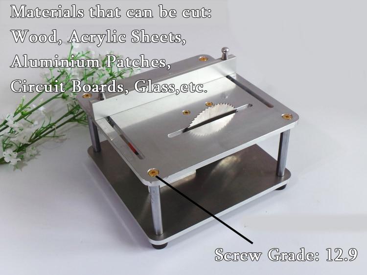 Mini table saw mini desktop cutting machine cutting wood acrylic board aluminum iron DIY model tool mini table saw multi function woodworking saw circular saw diy cutting machine for wood pcb