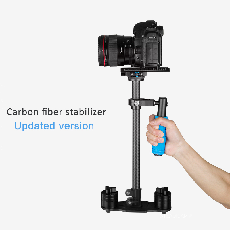 38cm Carbon Fiber Handheld Stabilizer Steadicam for Digital Camera Canon Nikon Sony DSLR Mini Steadycam professional s60 66cm handheld camera stabilizer for camcorder digital camera canon nikon sony dslr mini steadycam t150 3
