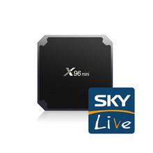X96 mini 1GB 8GB Skylive Amlogic S905W Android 7.1 Smart TV 500 + UK France chypre grèce arabe italie espagne IPTV décodeur(China)