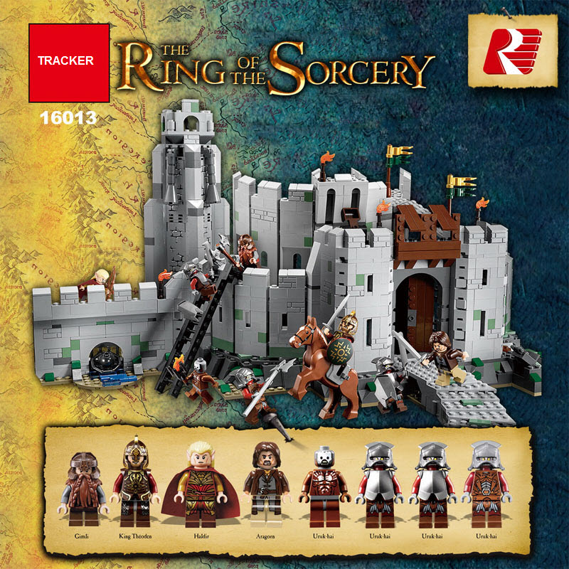 LEPIN 16013 The Lord of the Rings The Battle Of Helm's Deep Model Building Kit Block 1368Pcs Bricks Compatible With LEPIN 9474 lepin 16018 756pcs genuine the lord of rings series the ghost pirate ship set building block brick toys compatible legoed 79008