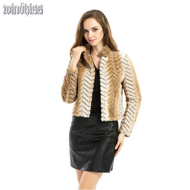 Новые Женщины куртки зима верхняя одежда женский плюс размер Леди Поддельные меховой Жилет Короткий Мех Жилет Женщин длинный Рукав Пальто Тонкий куртка