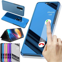 For Huawei P30 Pro Smart Mirror Flip Leather Stand Rubber Ba