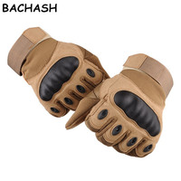 BACHASH New Tactical Full Finger Gloves Airsoft Military Paintball Army Shooting Bicycle Work Carbon Hard Knuckle Women Gloves