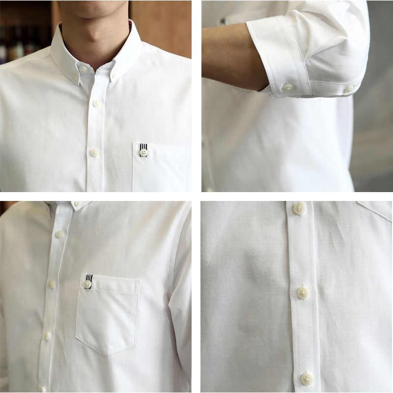 男性のタキシードシャツ構図ビジネス社会スリムフィット長袖カジュアルボタンダウン抗しわドレスシャツ