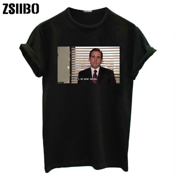 0d00f8ad12 I Am Dead Inside Quotes Funny t-shirt The Office Michael Scott T ...