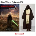 Star WarsCostume Kenobi Jedi Tunic Brown Cloak Halloween Cosplay Costume For Men Cosplay Costume  with  Shoe cover SZYBKJ AA0289