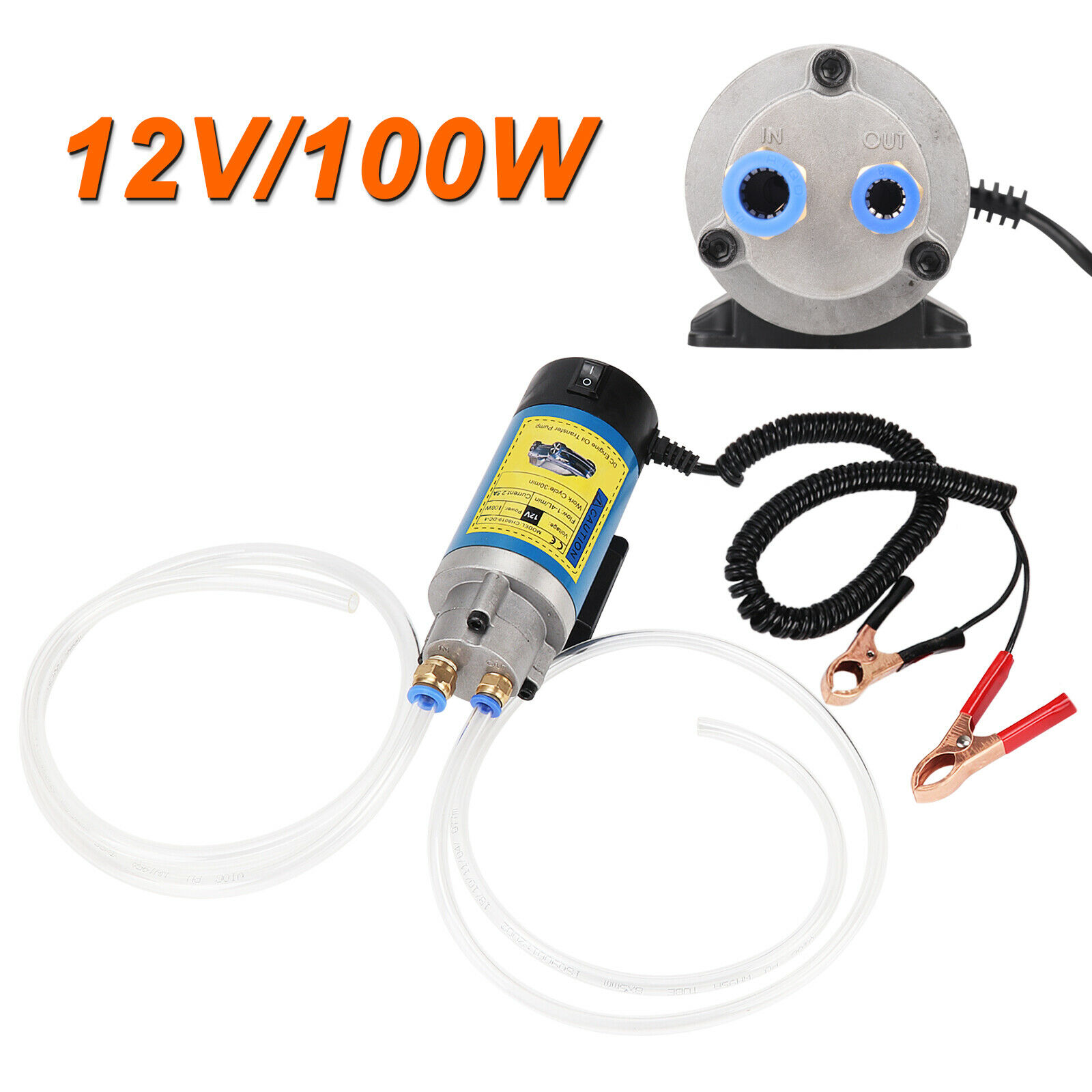 100 W 12 V Diesel Extractor Fluido de Transferência de Óleo Elétrica Sifão Bomba de Carro Moto