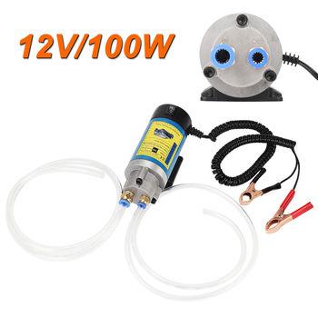 100 W 12 V olej elektryczny Transfer Extractor płynu pompy oleju napędowego syfon samochód motocykl tanie i dobre opinie Oil Transfer Pump China