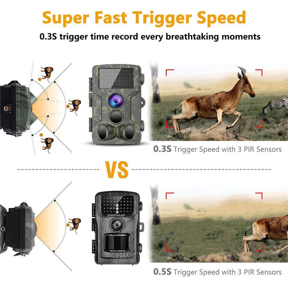 Chasse Trail caméra étanche Vision nocturne caméra sauvage caméra forêt Animal Photo pièges Scout chasse caméra HC 800A - 3