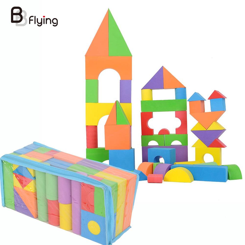 Marvelous Building With Foam Blocks #8: Free Shipping Creative DIY Building Block EVA Foam Toys Kids Toy(China)