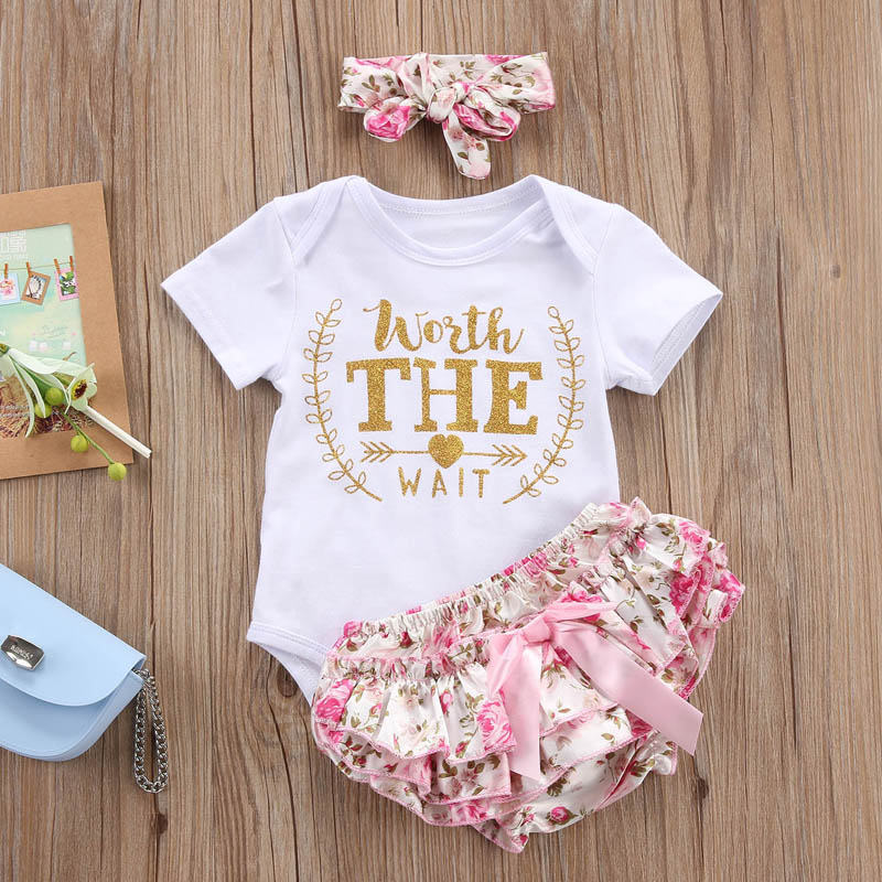 HTB1MS1VeCtYBeNjSspaq6yOOFXam 2018 new Newborn Baby Girls Clothes Playsuit Romper Pants+ Headband Outfit Set