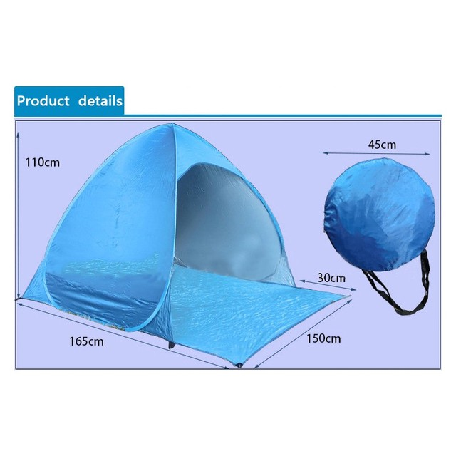 Fishing Ultralight Folding Tent Automatic Open Pop Up Outdoor Camping Beach Anti-UV For 2 Persons