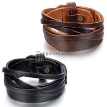 Ремешок кожаный с пряжкой в стиле панк для мужчин и женщин 247