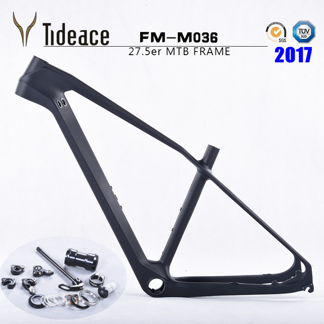 Cheap 2017 NEW arrival! carbon MTB frame 27.5er 15.5/17/18.5/20'' Mountain bicycle frameset  thru Axle carbon mountain bike frame 27.5