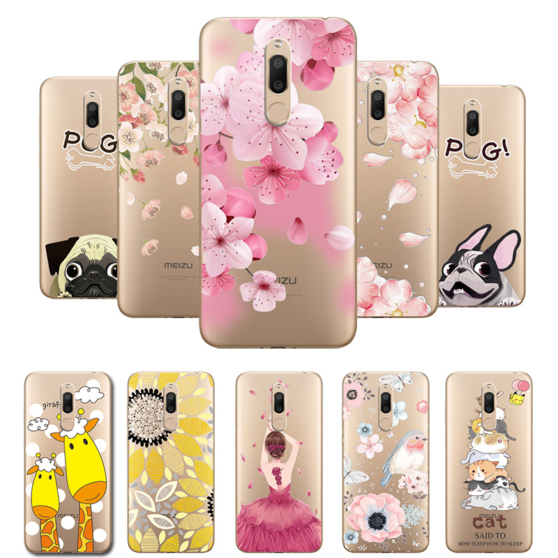 3D Relief Lace Flowers Case Cover For Meizu M6T M 6T Soft Silicone Dancer Cute Cat Fundas For MeizuM6T M811H 5.7