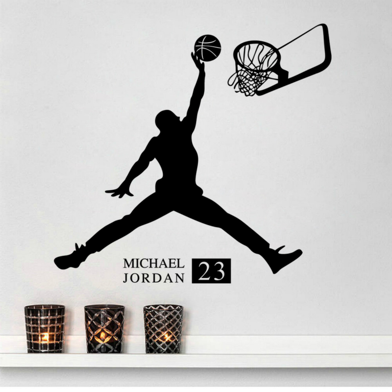 Sports Poster Basketball Wall Stickers No23 Michael Jordan