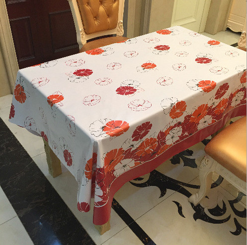 New PVC Tablecloth Waterproof Oilproof High Grade Thickened Plastic  Rectangle Christmas Table Cloth Tischdecke 3