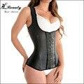 FeelinGirl 100% Latex Cintura Cincher Cintura Corsets Osso De Aço Espartilho & Bustiers Shapewear Emagrecimento Colete Korsett para As Mulheres-Um