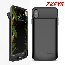 ZKFYS For iPhone XR Battery Case Portable Backup Ultra Thin Fast Charger Cover 6000mAh