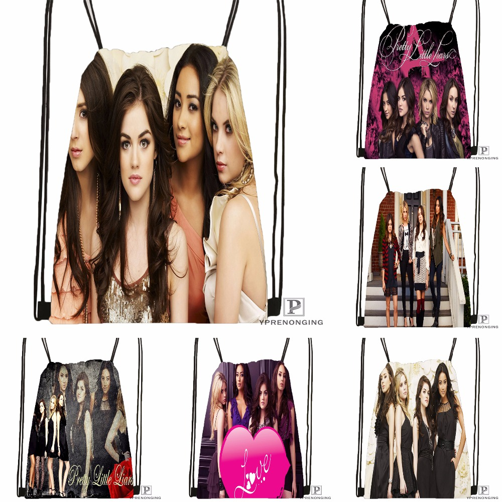 Custom Pretty Little Liars Drawstring Backpack Bag Cute Daypack Kids Satchel Black Back 31x40cm 180531 02