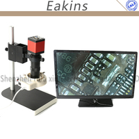 Microscope Set HD 13MP HDMI VGA Industrial Microscope Camera 130X C Mount Lens 56 LED Ring