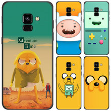 cute Adventure Time Phone case for Samsung Galaxy J8 J6 Plus J4 Plus 2018 Soft Silicone Black Case for Galaxy J6 J8 2018