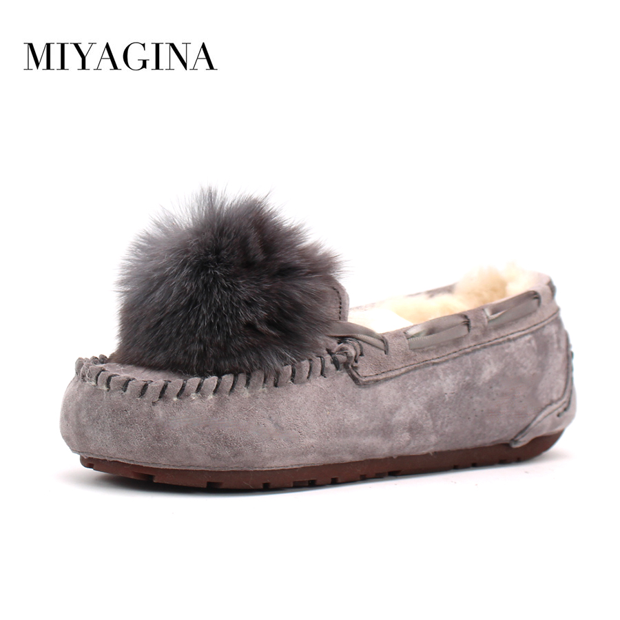 New Women 100% Natural Fur Shoes Moccasins Mother Loafers Soft Genuine Leather Leisure Flats Female Driving Casual Footwear 2017 new leather women flats moccasins loafers wild driving women casual shoes leisure concise flat in 7 colors footwear 918w