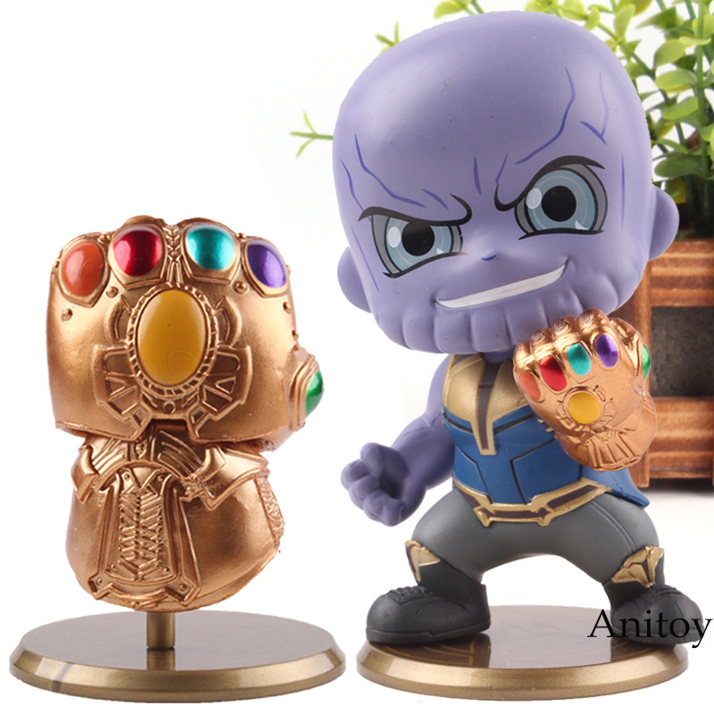 Marvel Avengers 3 Infinity War Infinity Gauntlet Glove / Thanos Figure Action Q Version PVC Collection Model Cosbaby Hot Toys action figure marvel avengers 3 infinity war figure thanos pvc avengers infinity war thanos figure collectible model toys light