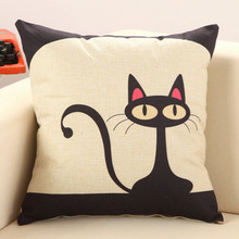 Creative Lumbar Pillow Cartoon cat without inner decorative throw pillows chair seat home decor home textile gift
