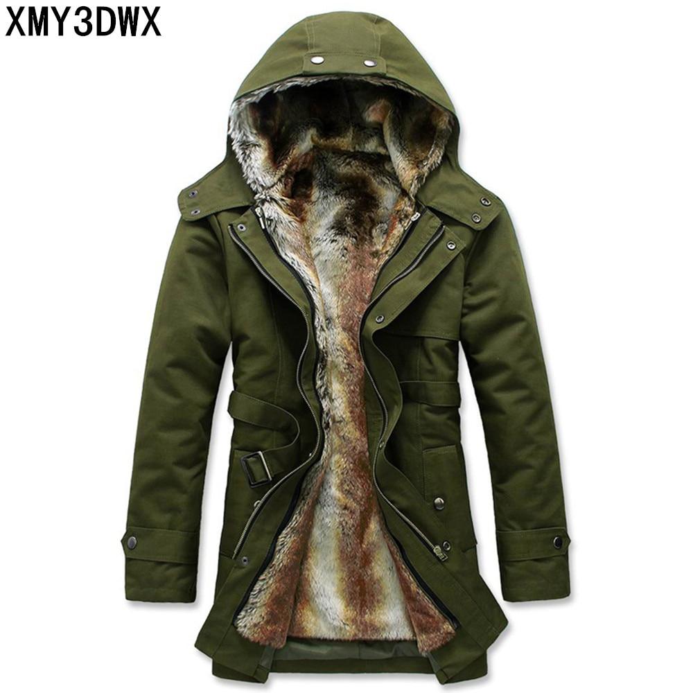 Здесь можно купить   S-3XL 2017 stylish men add wool warm winter long cotton-padded clothes/Male slim fit long Within Mao Dan hooded jacket/ Одежда и аксессуары