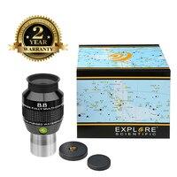 New Explore Scientific Eyepiece 82 degree Extreme Wide Field Waterproof 1.25inch 8.8mm Argon-Purged EMD Coatings