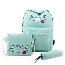 3 шт. рюкзак печати студенты Bookbag повседневные школьные сумки для девочек-подростков дорожная сумка Mochila Feminina