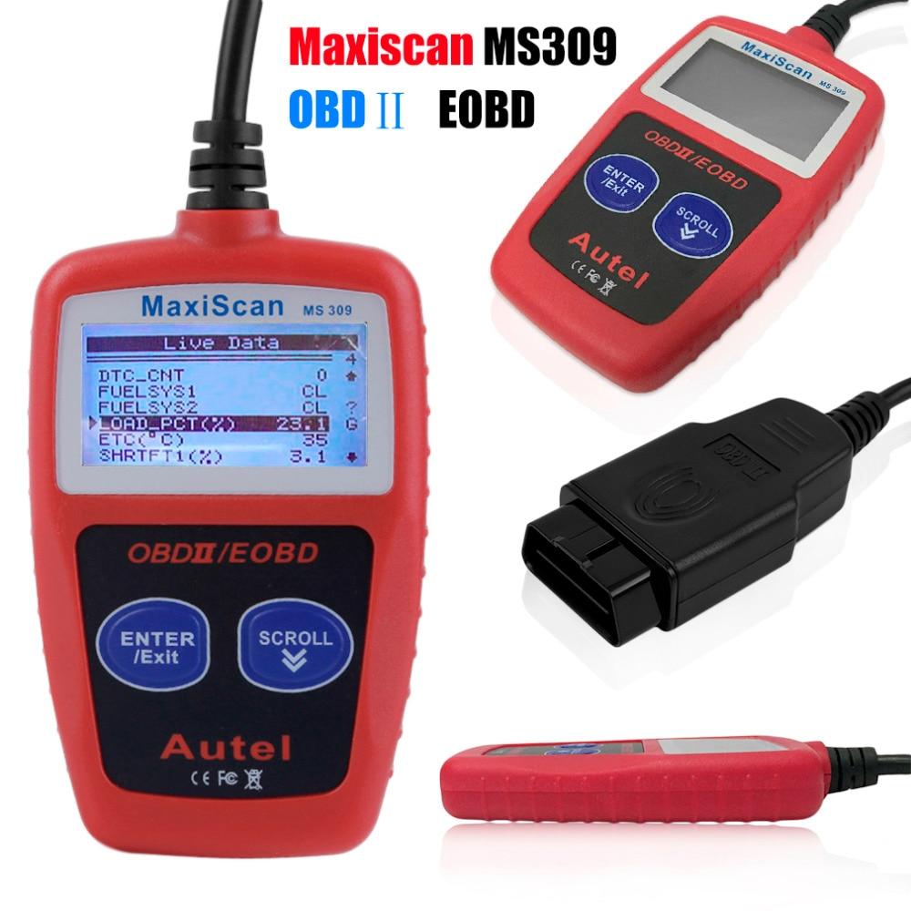 High Quality MS309 OBD2 Auto Car Diagnostic Code Scanner Reader Engine Fault Code Reader Car Diagnostic Automotive Detector Tool