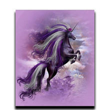 Painting Diamond horse DIY Embroidery Unicorn Pegasus Flying Photos full of crystals Round National Mosaic