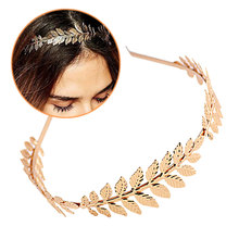 Gold/Silver Plated Metal Leaves Wheat ears Headband Women Elegant Baroque Style Charming Hair Accessories Hairband Leaf headband