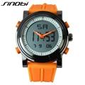 SINOBI Men Sports Watches Waterproof Military Quartz Digital Watch Alarm Stopwatch Dual Time Zones Brand New Relogios Masculinos
