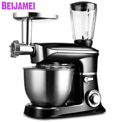 Beijamei 1300W stand food mixer household multifunctional meat grinder fruit juicer electric dough kneading egg beating machine