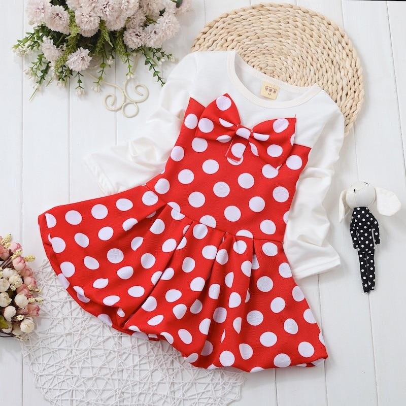 14fb5703252f BibiCola Baby Girl Dress Dot Pattern Princess Dress Girls European ...