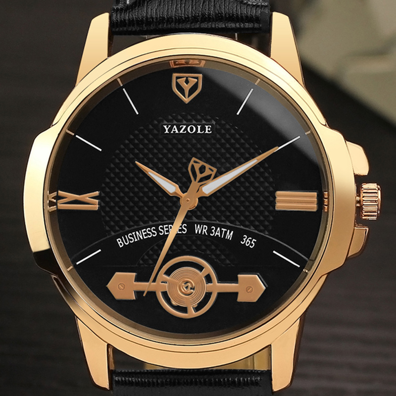 2018 New Top Brand Luxury Famous Yazole Wrist Watch Men Wristwatch Male Clock Hodinky Quartz-watch Relogio Masculino Sport Watch