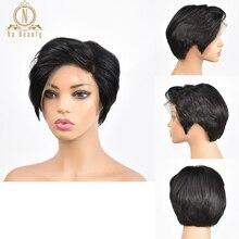 """Nabeauty-peruca 360 com cabelos humanos encaracolados com renda frontal curta natural 150 """"com ondas naturais bob, peruca lace front para mulheres negras, cabelo remy"""