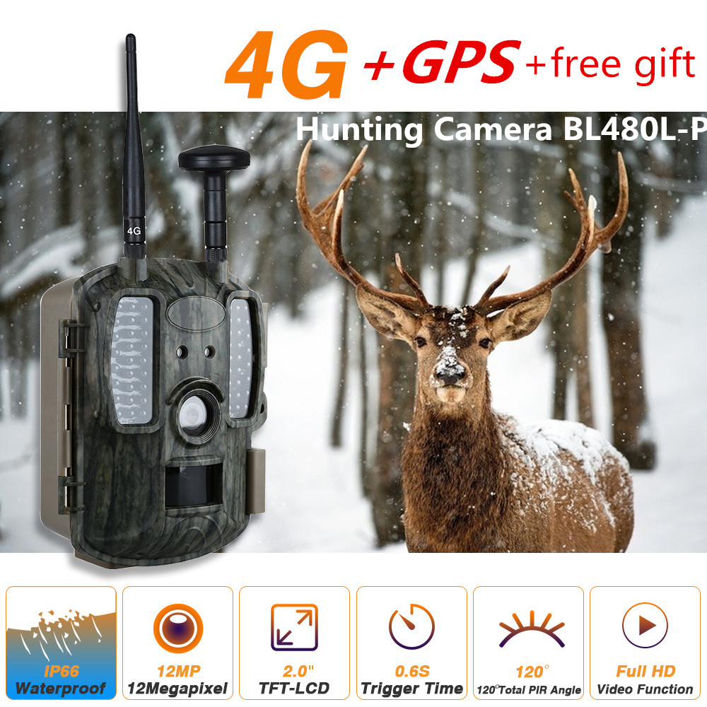 4G Digital Infrared Night Vision Game Camera Trail Hunting Camera 12MP 1080P HD 2 LCD Screen Scouting Camera Trap Photo 2 lcd hd 1080p mms digital infrared