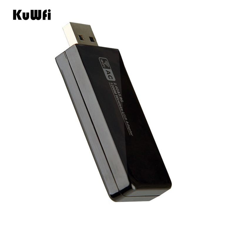 Image 4 - 11AC 1200 Мбит/с USB3.0 беспроводной адаптер 2,4G/5,8G двухдиапазонный приемник USB Wi Fi 2T2R антенна Точка беспроводного доступа сетевая карта для рабочего стола-in Сетевые карты from Компьютер и офис