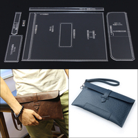 DIY men's handbag mold hand bag hand made leather plate pattern acrylic design durable template 27.5x16x2.5cm